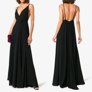 Reformation Callalily V-Neck Wrap Maxi Dress